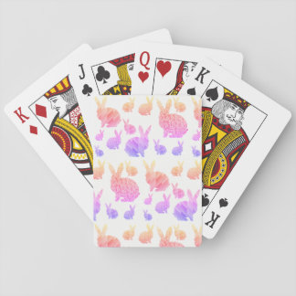 Rainbow Rabbits Playing Cards