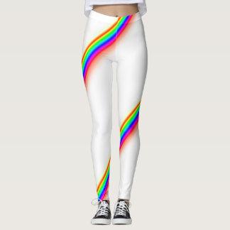 Rainbow racing stripe style leggings