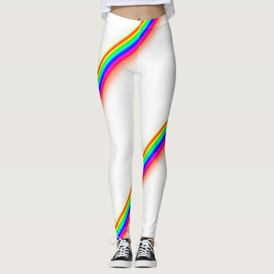 Rainbow racing stripe style leggings