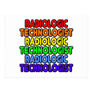 Rainbow Radiologic Technologist Postcard