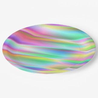 Rainbow Rain Paper Plate
