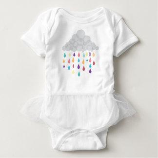 Rainbow Raindrop Childs Tutu Baby Bodysuit