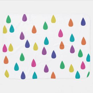 Rainbow Raindrops Baby Blanket