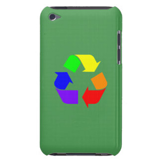 Rainbow Recycle Barely There iPod Cases