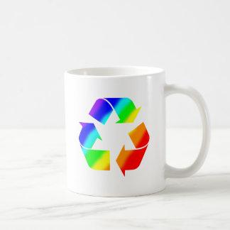Rainbow Recycle Sign Coffee Mugs