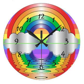 Rainbow Reflection LGBT Clock