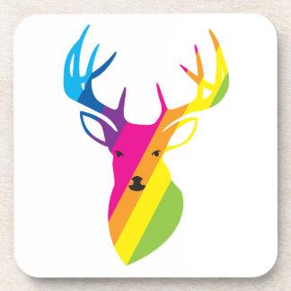 Rainbow Reindeer Beverage Coasters