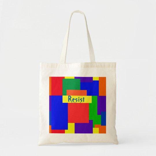 Rainbow Resist Patchwork Quilt Design Tote Bag