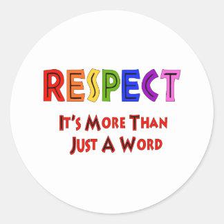Rainbow Respect Round Sticker