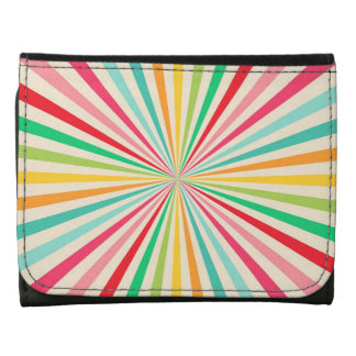 Rainbow Retro Colorful Abstract Art Wallets