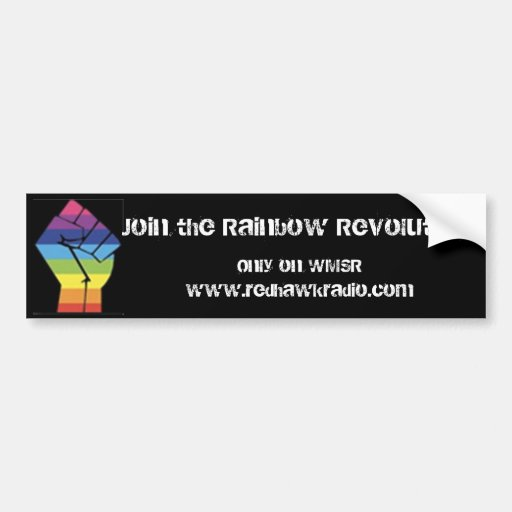 Rainbow Revolution Bumper Sticker