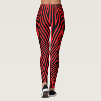Rainbow Rex Retro Leggings: Red Leggings