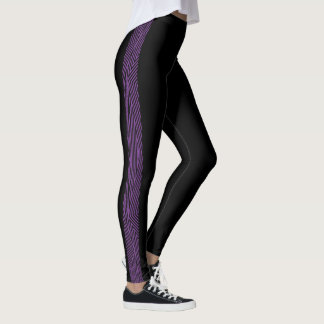 Rainbow Rex Retro Leggings: Slim Purple Leggings