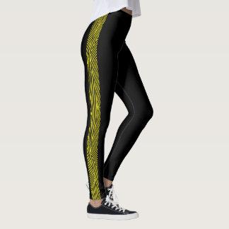 Rainbow Rex Retro Leggings: Slim Yellow Leggings