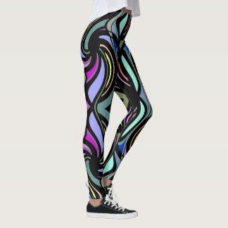 Rainbow Rhythm  Fashion Leggings-Women Leggings