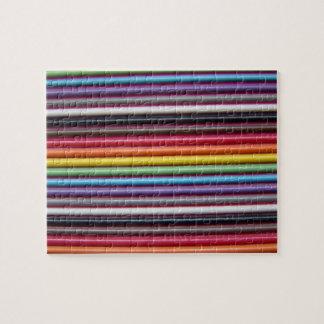 Rainbow Ribbon Cable Jigsaw Puzzle