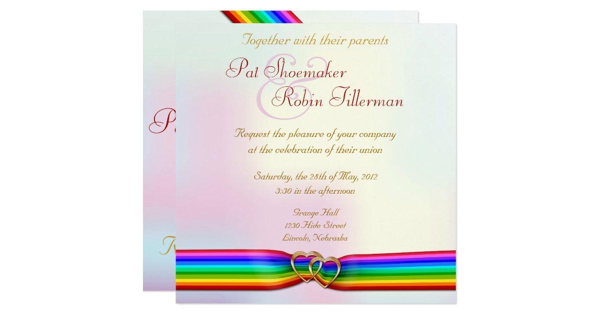 rainbow themed wedding invitations uk - 28 images - rainbow themed ...