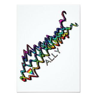 Rainbow Ribbon Invitations (Ally)