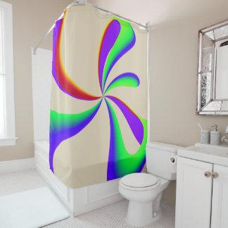 Rainbow Ribbon Swirl Shower Curtain