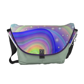 Rainbow Ribbons Courier Bag