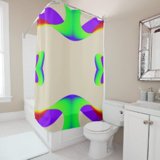 Rainbow Ribbons Shower Curtain