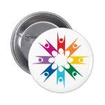 Rainbow Ring of Humanists 6 Cm Round Badge