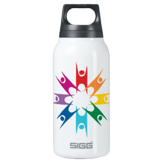Rainbow Ring of Humanists Insulated Water Bottle