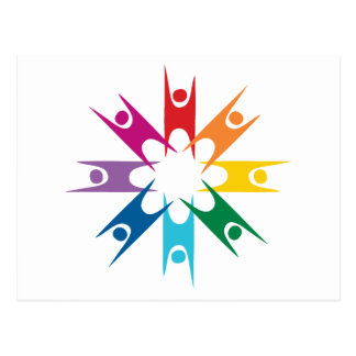 Rainbow Ring of Humanists Postcard