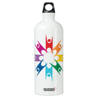 Rainbow Ring of Humanists Water Bottle