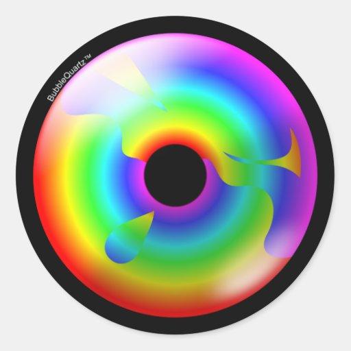 Rainbow ring sticker sheet