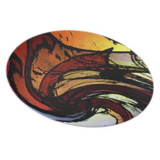 Rainbow Ripple Plate