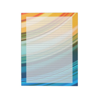 "Rainbow Ripples 8.5""x11"" Lined Notepad"