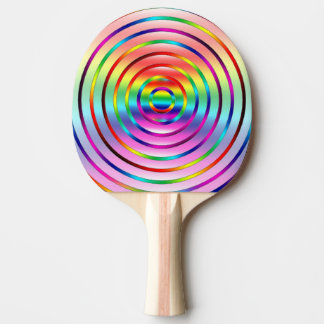 Rainbow Ripples Ping Pong Paddle
