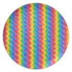 Rainbow Ripples Plate