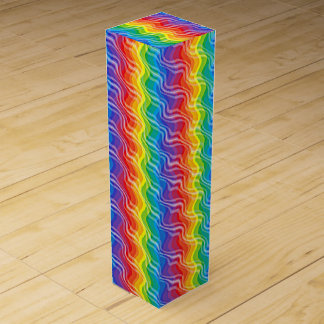 Rainbow Ripples Wine Gift Box
