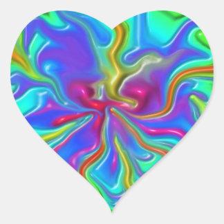 Rainbow Rivers Heart Sticker