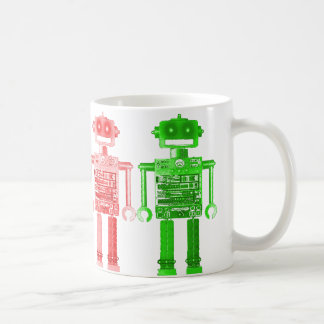 rainbow robots muh coffee mug
