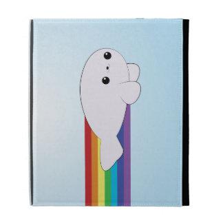 Rainbow Rocket Baby Seal Kawaii iPad Case