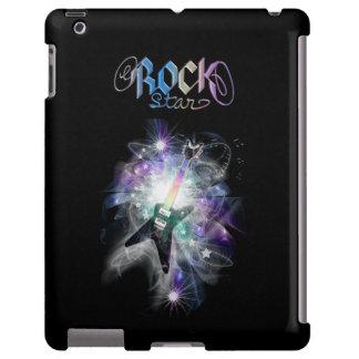 Rainbow Rockstar  Electric Guitar iPad Case