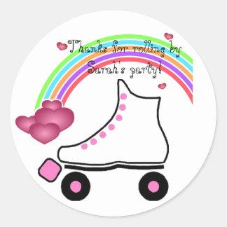 Rainbow Roller Skate Birthday Sticker