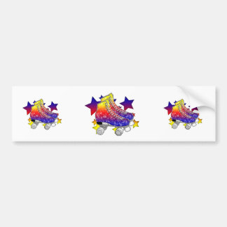 Rainbow Rollerskates Bumper Stickers