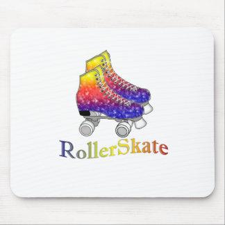 Rainbow Rollerskates Mouse Pad