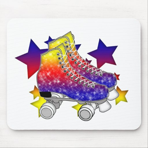 Rainbow Rollerskates Mousepads