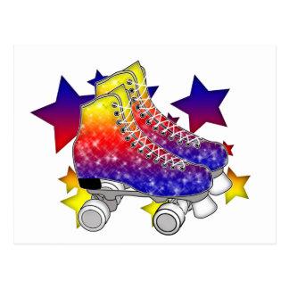 Rainbow Rollerskates Post Cards