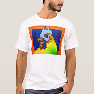 Rainbow Rooster 4 by Piliero T-Shirt