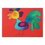 Rainbow Rooster Greeting Card