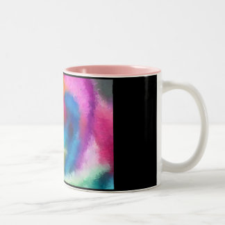 Rainbow Rose Impressionist Mug