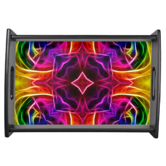 Rainbow Rose Kaleidoscope Serving Tray