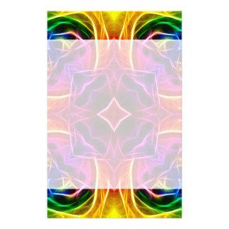 Rainbow Rose Kaleidoscope Stationery