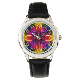 Rainbow Rose Kaleidoscope Watch